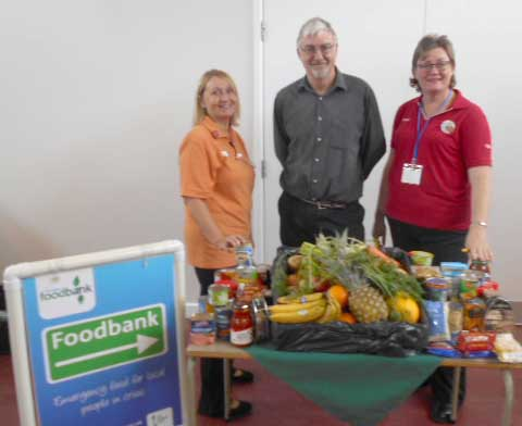 Care Home Donation to Town Foodbank