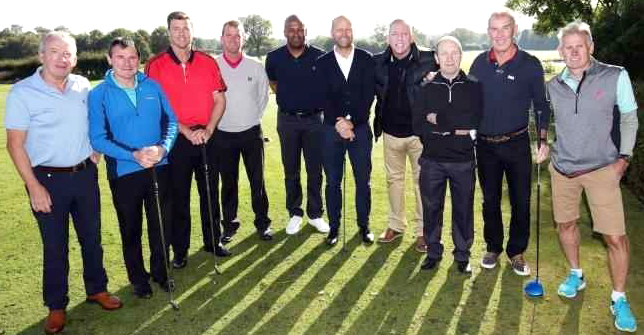 Past Superstars at Aycliffe Charity Golf Match