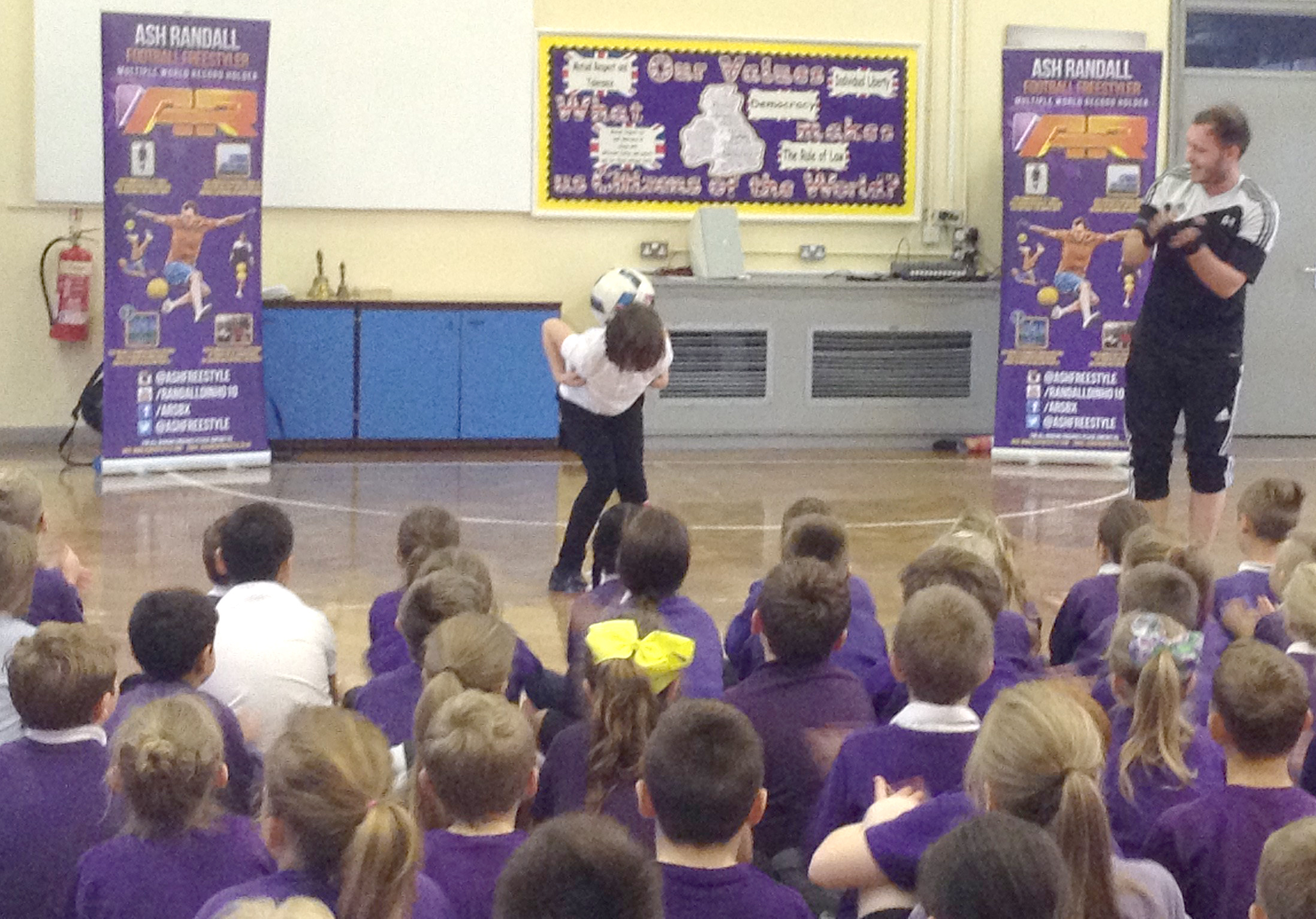 Football Freestyling Demo at Stephenson Way School