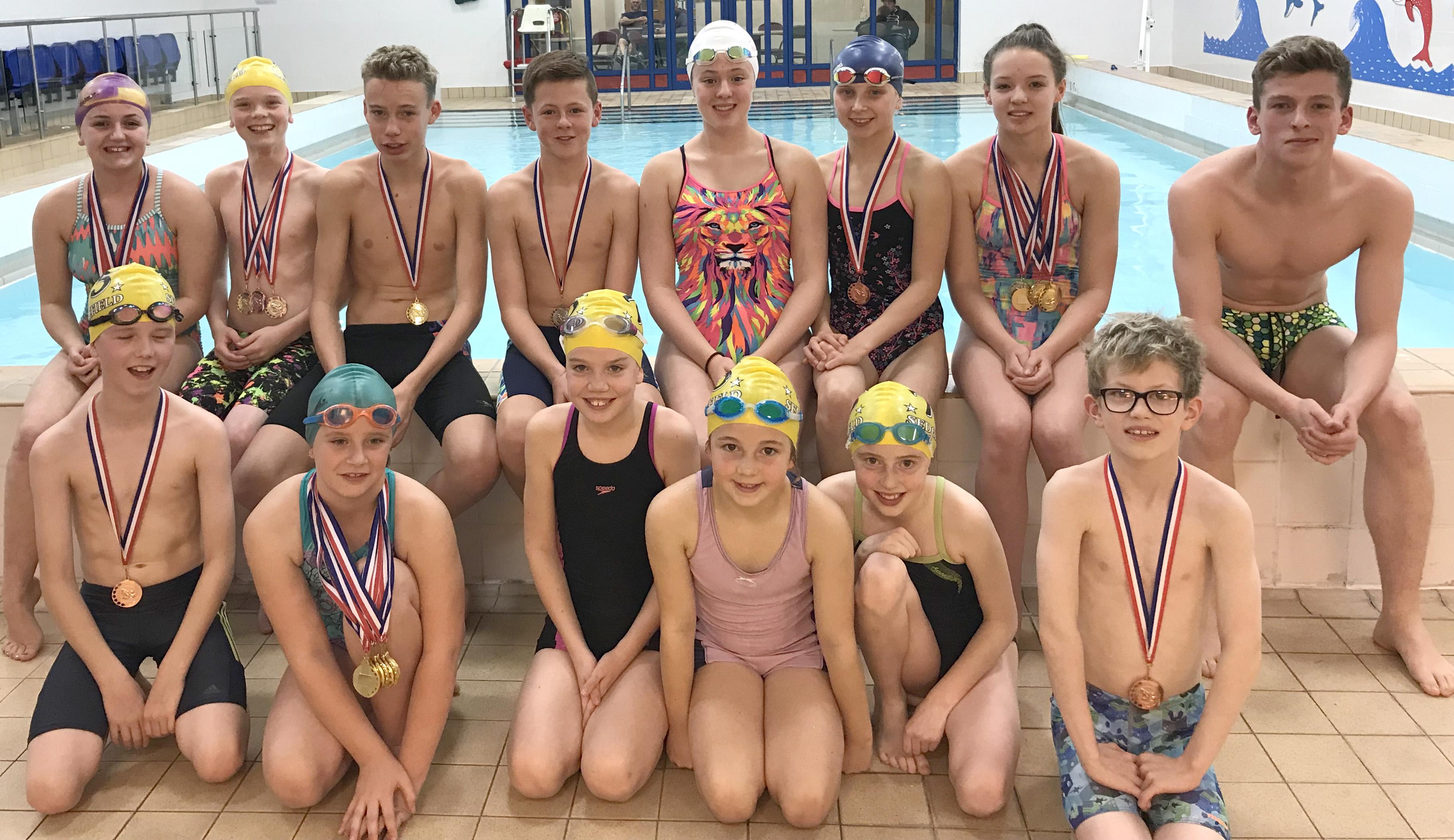 Sedgefield 75 Swimming Club at Darlington Gala