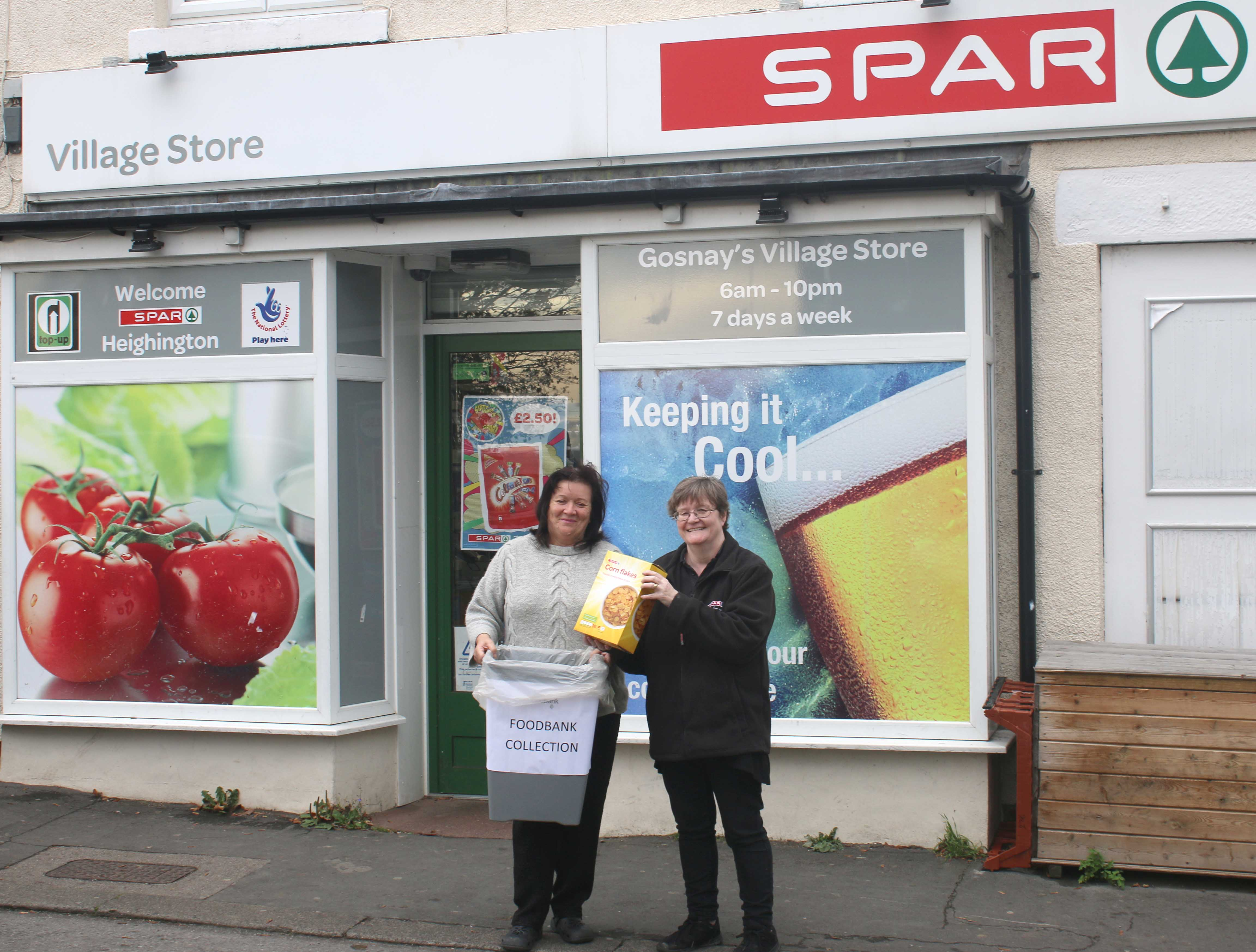 Heighington Spar Store Helping the Community