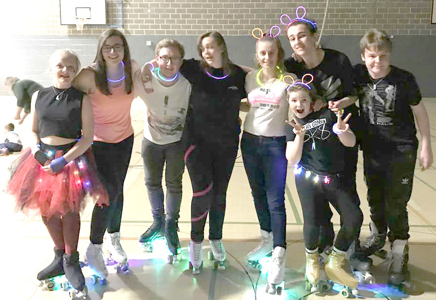 Roller Skating Club Glow Party Disco