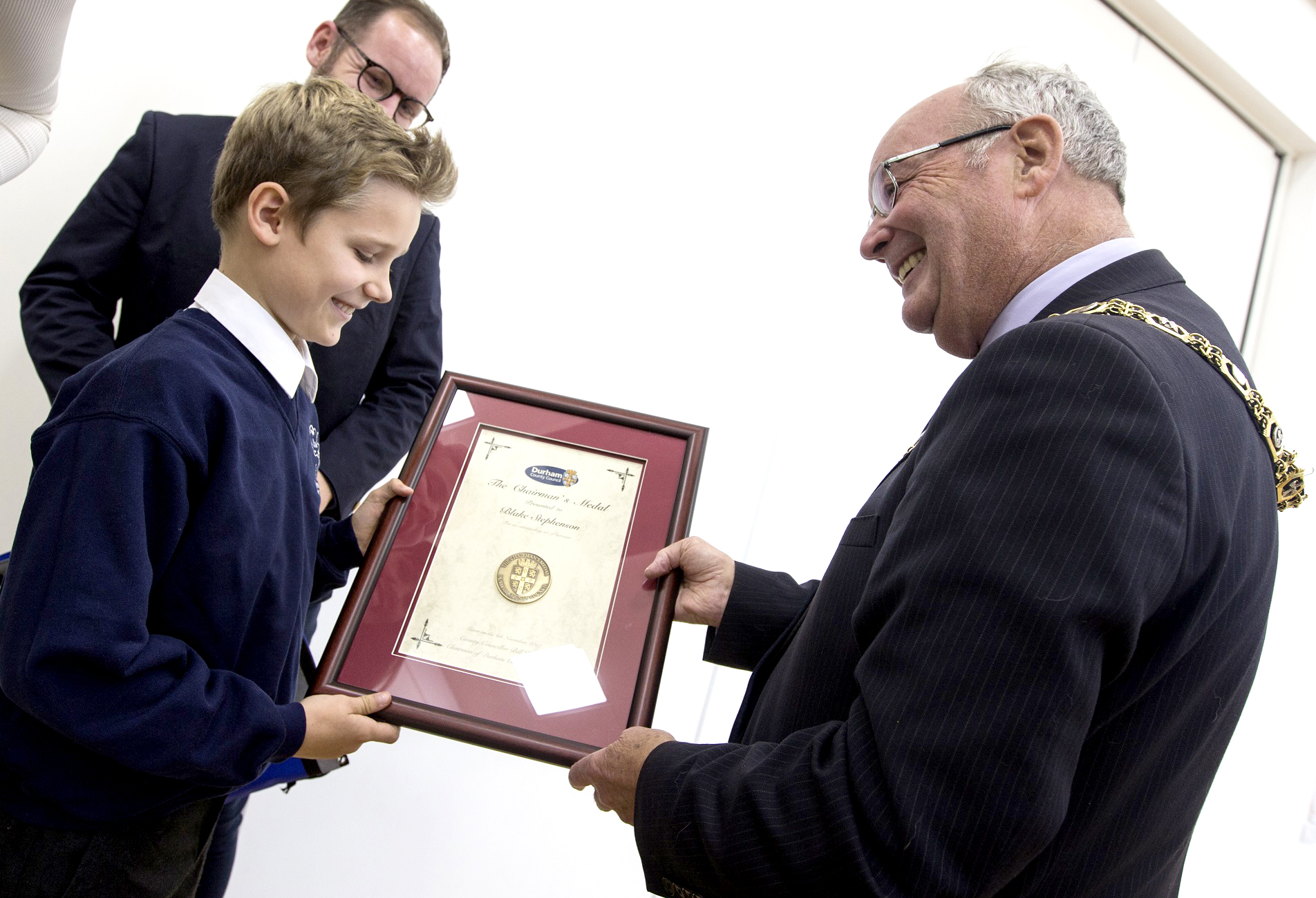 Schoolboy Life-saver Receives Chairman's Medal