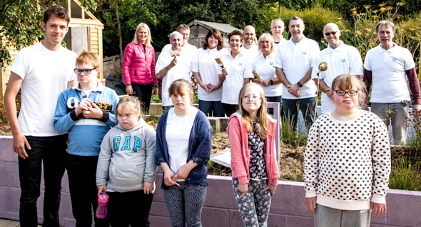 Aycliffe Company's Generous Help for Community Garden