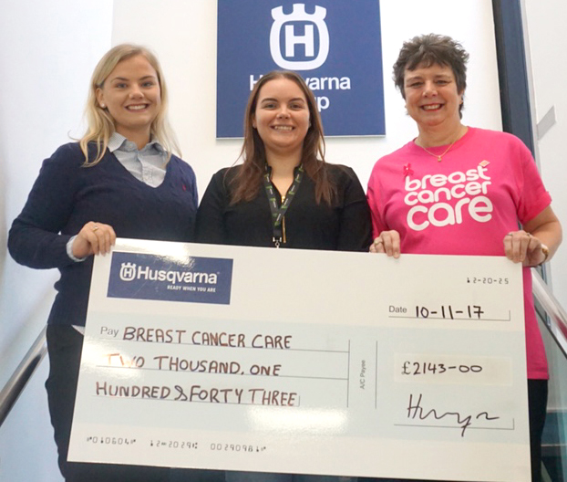 Husqvarna Raise Over £5,000 for Breast Cancer Charity