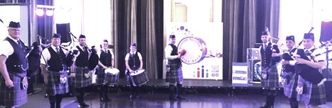 Town Pipe Band at  MRI Charity Ball