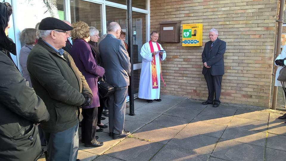 Public Defibrillator Dedicated at St. Clare's