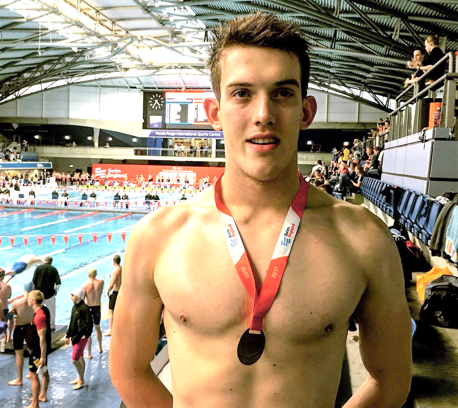 Aycliffe Club Member in International Swimming Competition