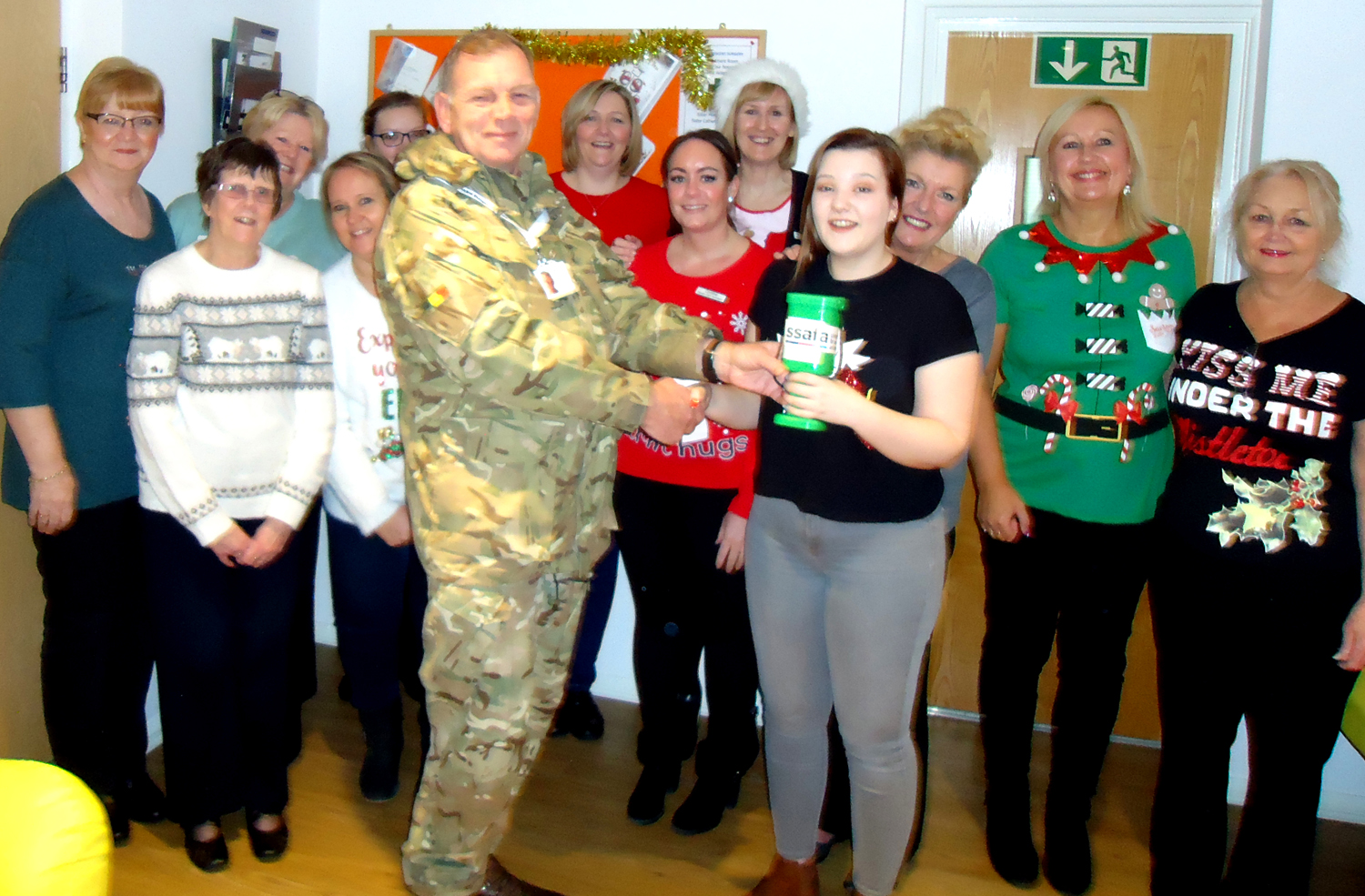 Bewick Crescent Surgery Supports S.S.A.F.A.