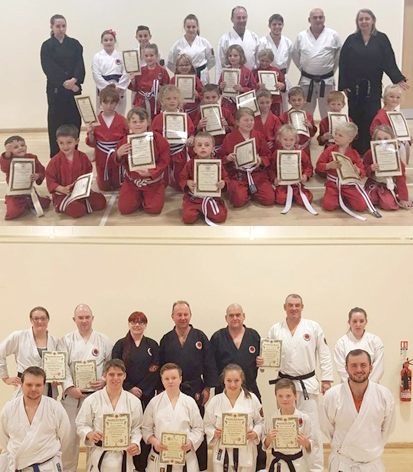End of Year Karate Grades