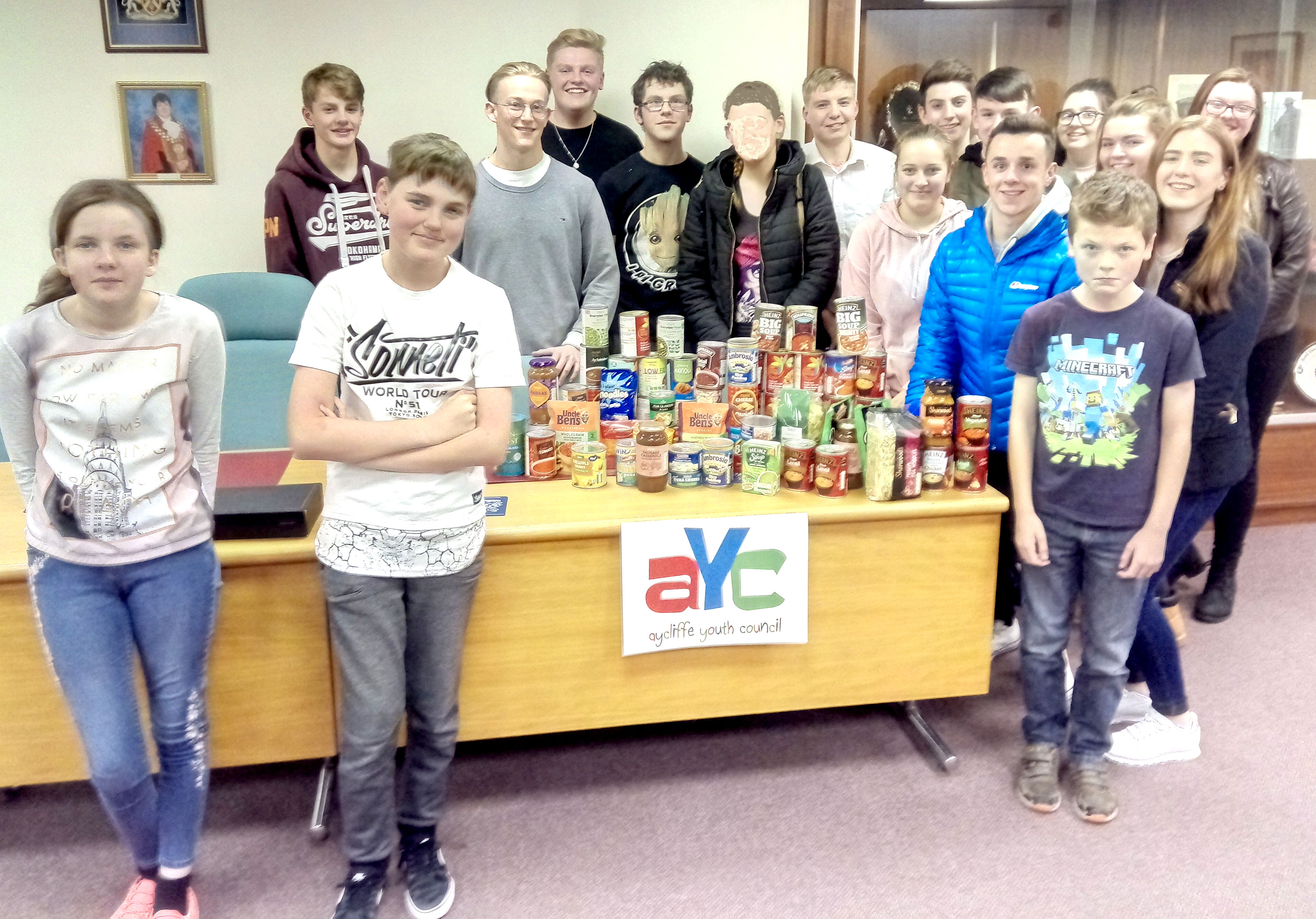 Youth Council Help Foodbank