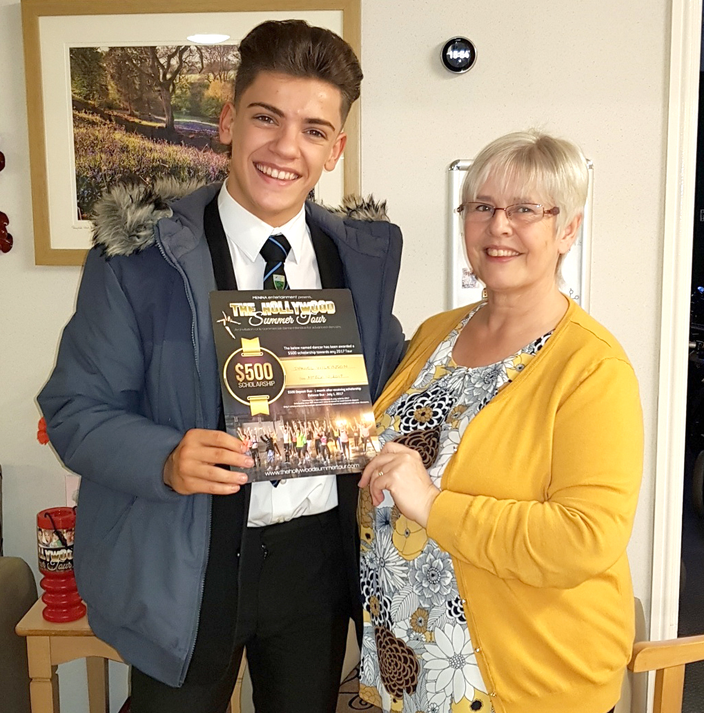 Care Home Helps Town Gymnast