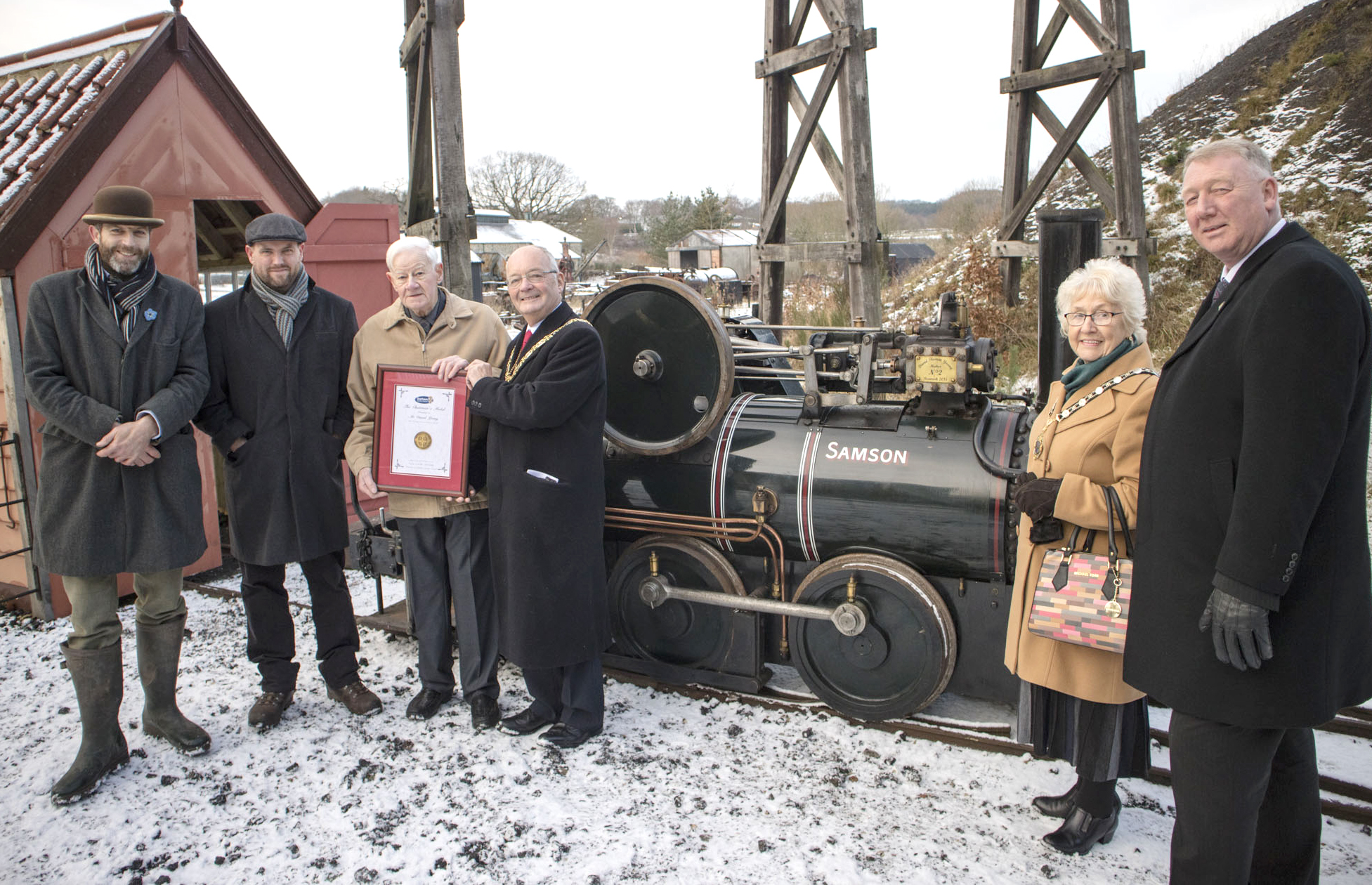 Chairman's Medal for 80 year old Beamish Volunteer