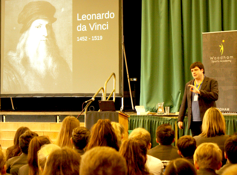 Inspirational Speaker Dr. Johnston Visits Woodham Academy