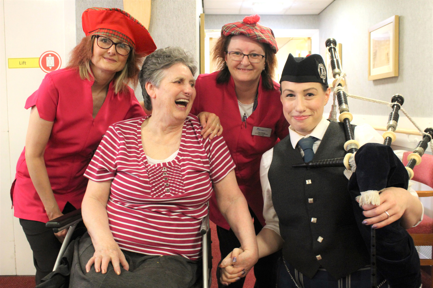 Burns Night Party for Rose Lodge Residents