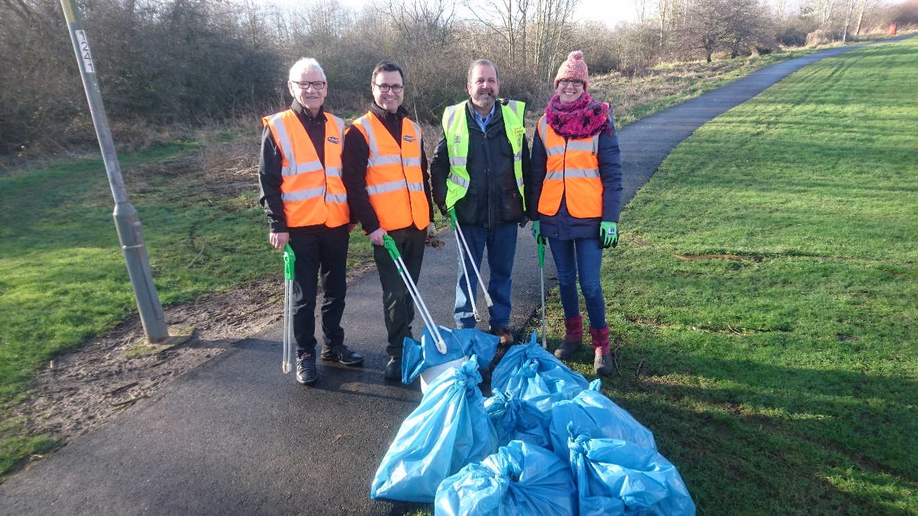 Western Area Litter Pick and Holly Planting