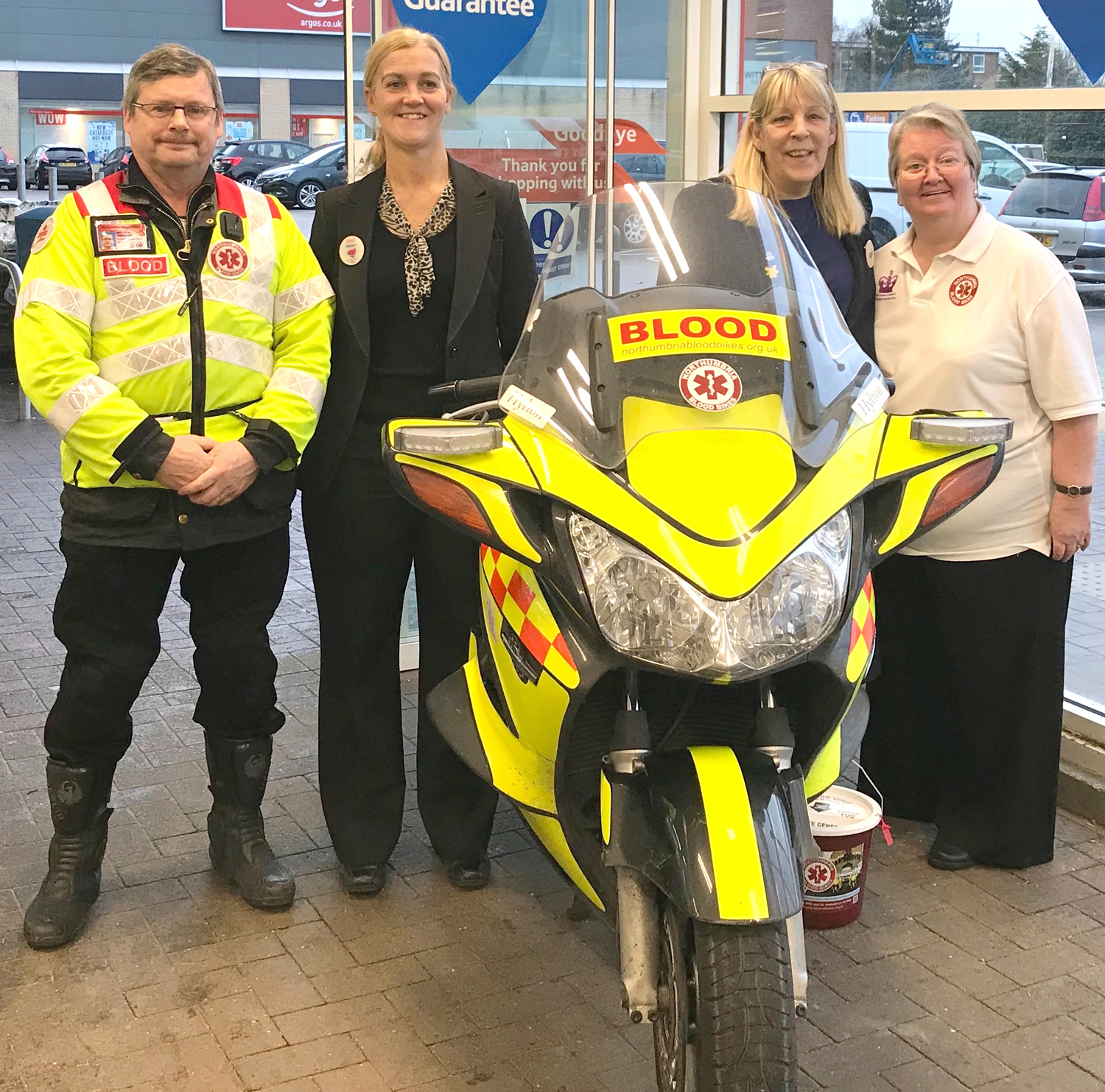 Tesco Collection for Blood Bike Charity
