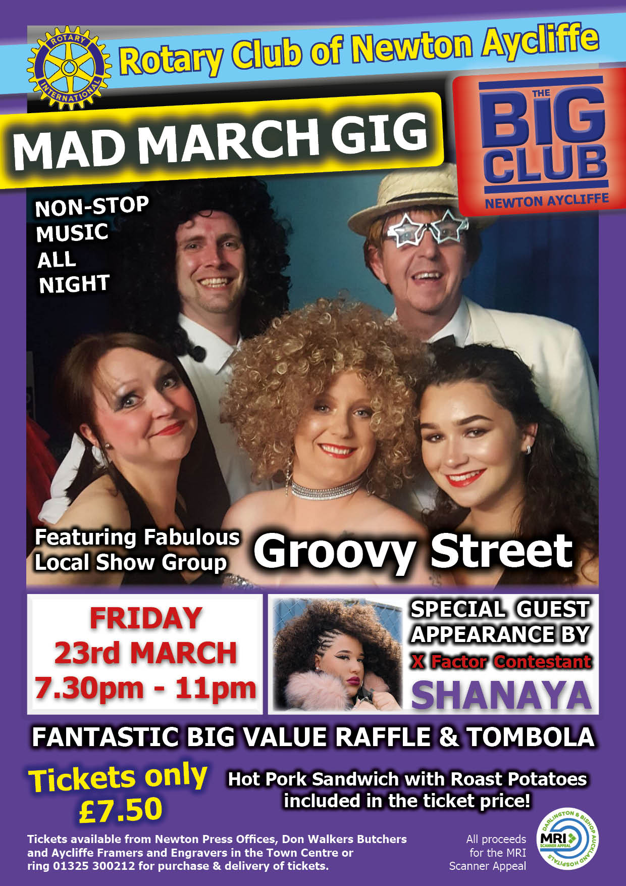 50% of Tickets Sold for Mad March Gig at Big Club