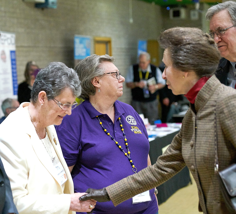 Past Rotary President Meets Princess Royal