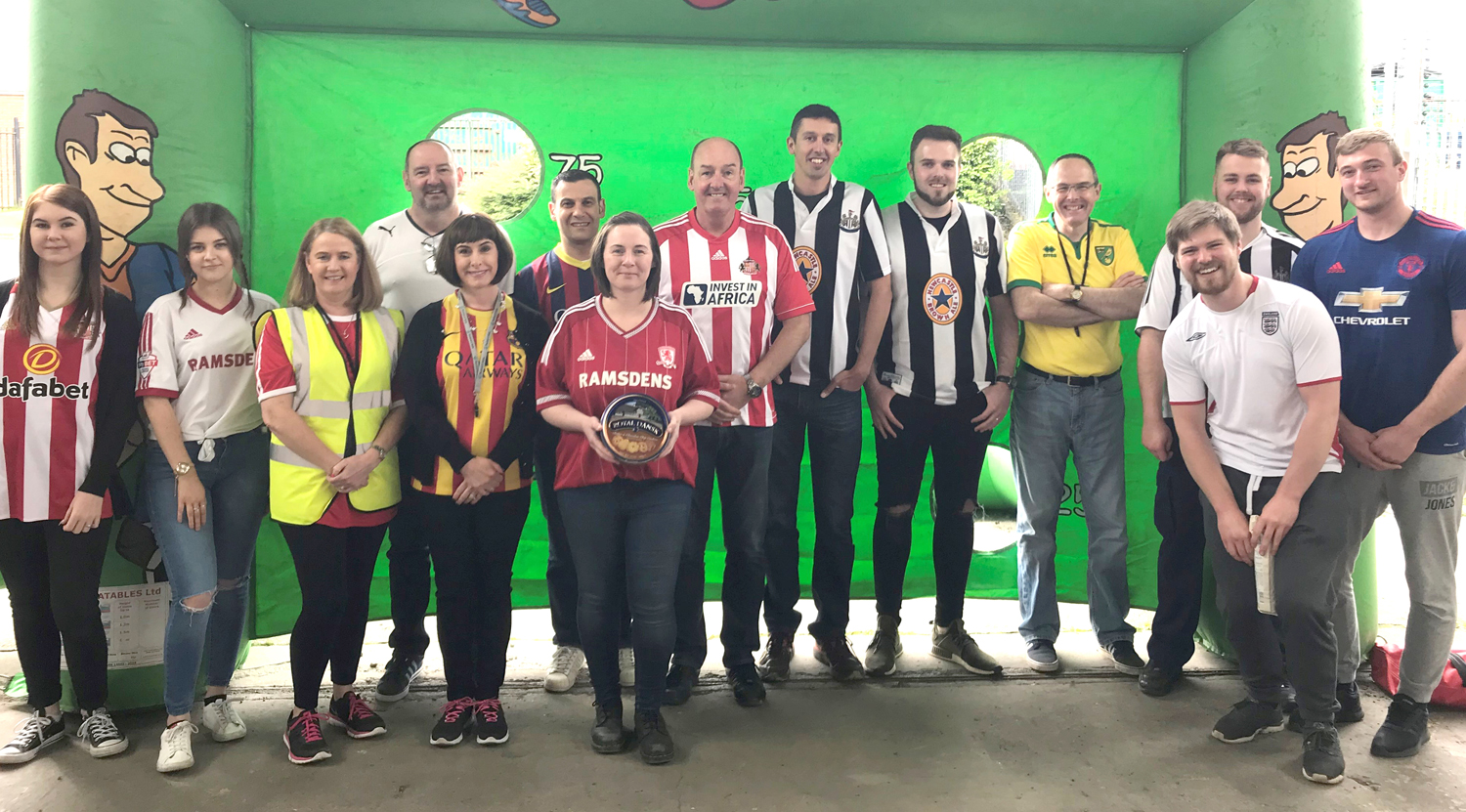 Perry Staff Score Goals for Bowel Cancer Charity