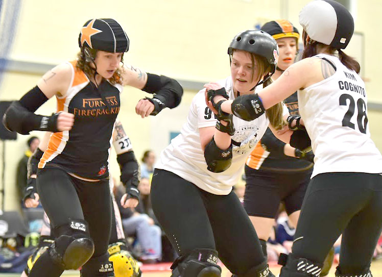 Roller Derby at Newton Aycliffe Leisure Centre