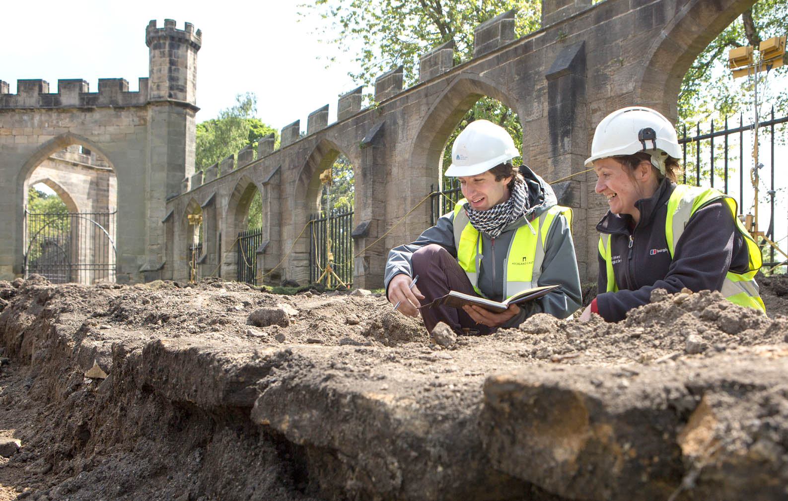 Excavation Work at 900 Year old Auckland Castle