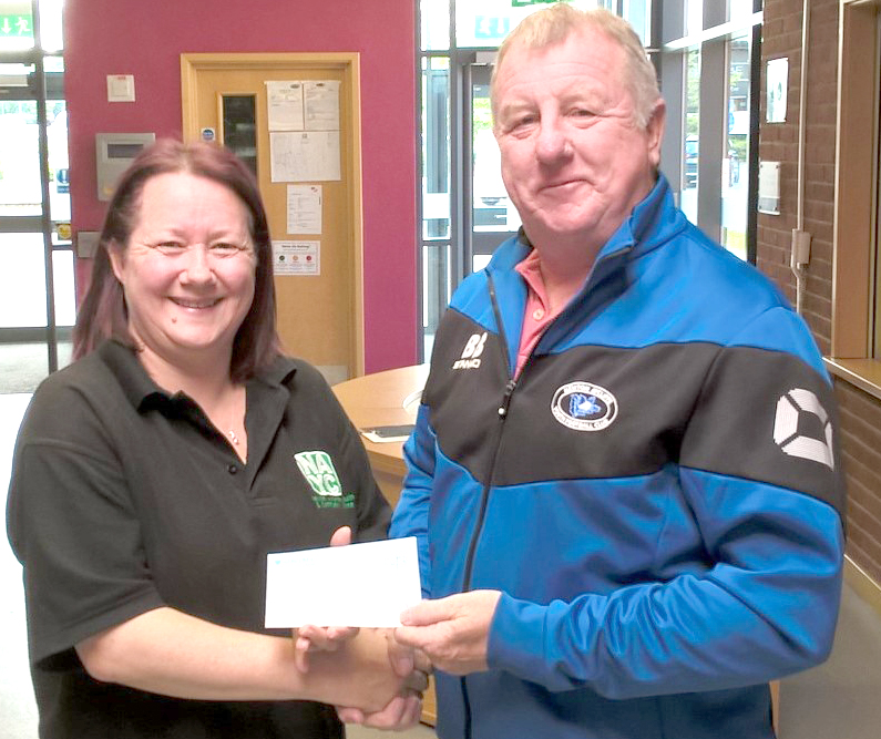 Aycliffe Youth FC Donation to NAYCC