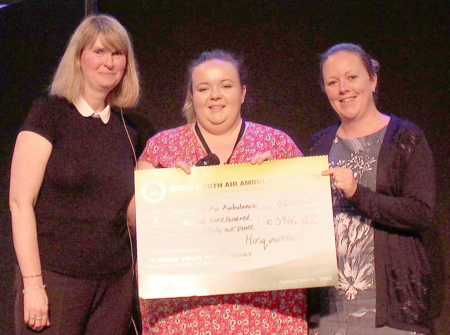 Husqvarna Raise £3,964 for Air Ambulance