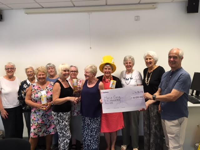 Marie Curie Volunteers Raise over £90,000