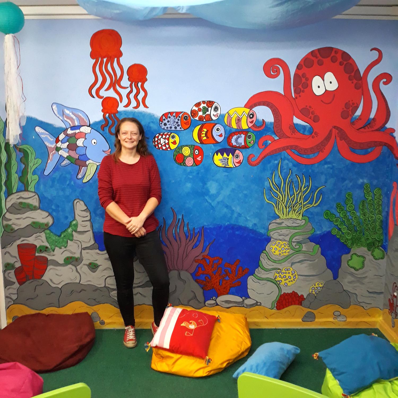 Classroom Mural Stimulates