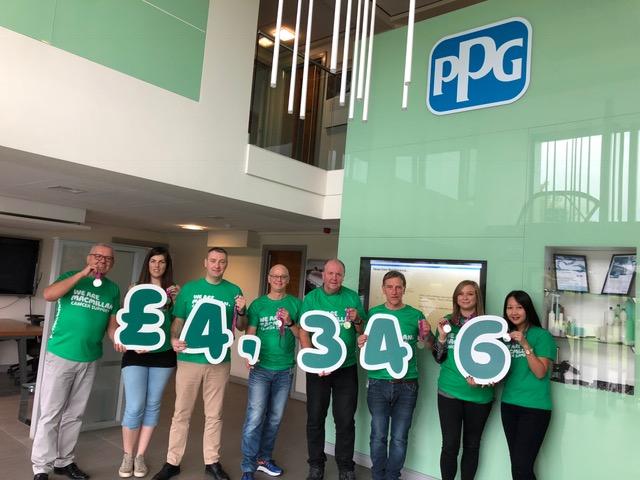 PPG Raise £4346 for Macmillan