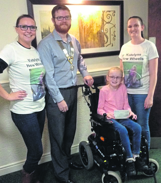 Rotary Contribute to Katelyn's Wheels