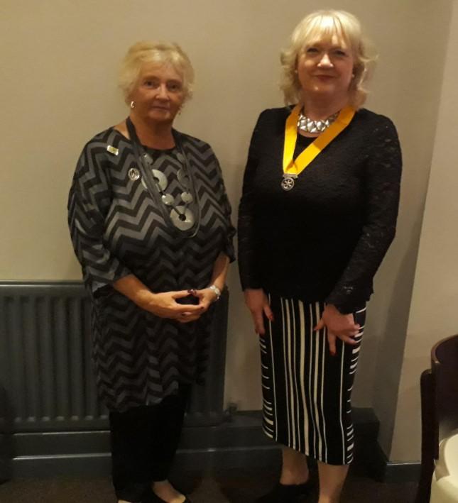 W.I. Stalwart Visits Rotary