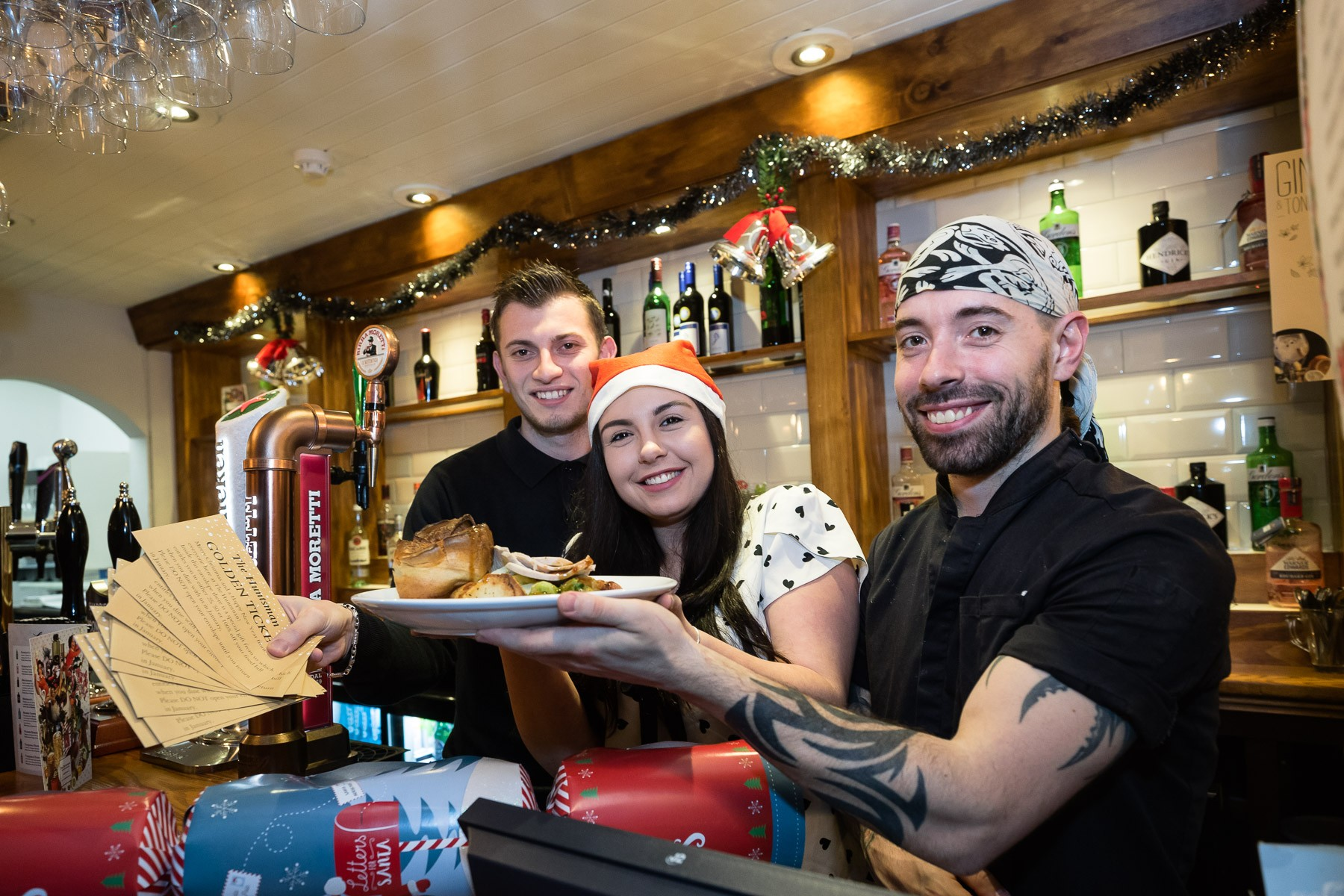 Christmas Golden Ticket For New Pub Team
