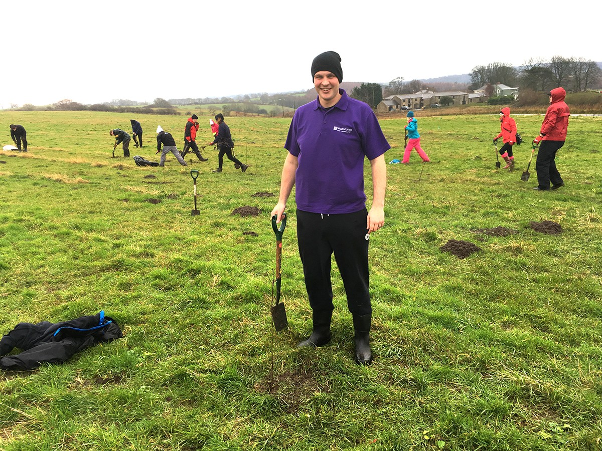Newton Press Tree Planting with the Woodland Trust