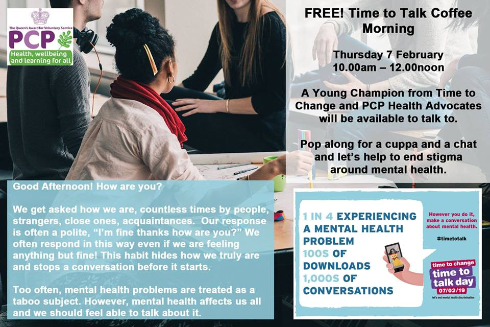 PCP holds 'Time to Talk' Coffee Morning