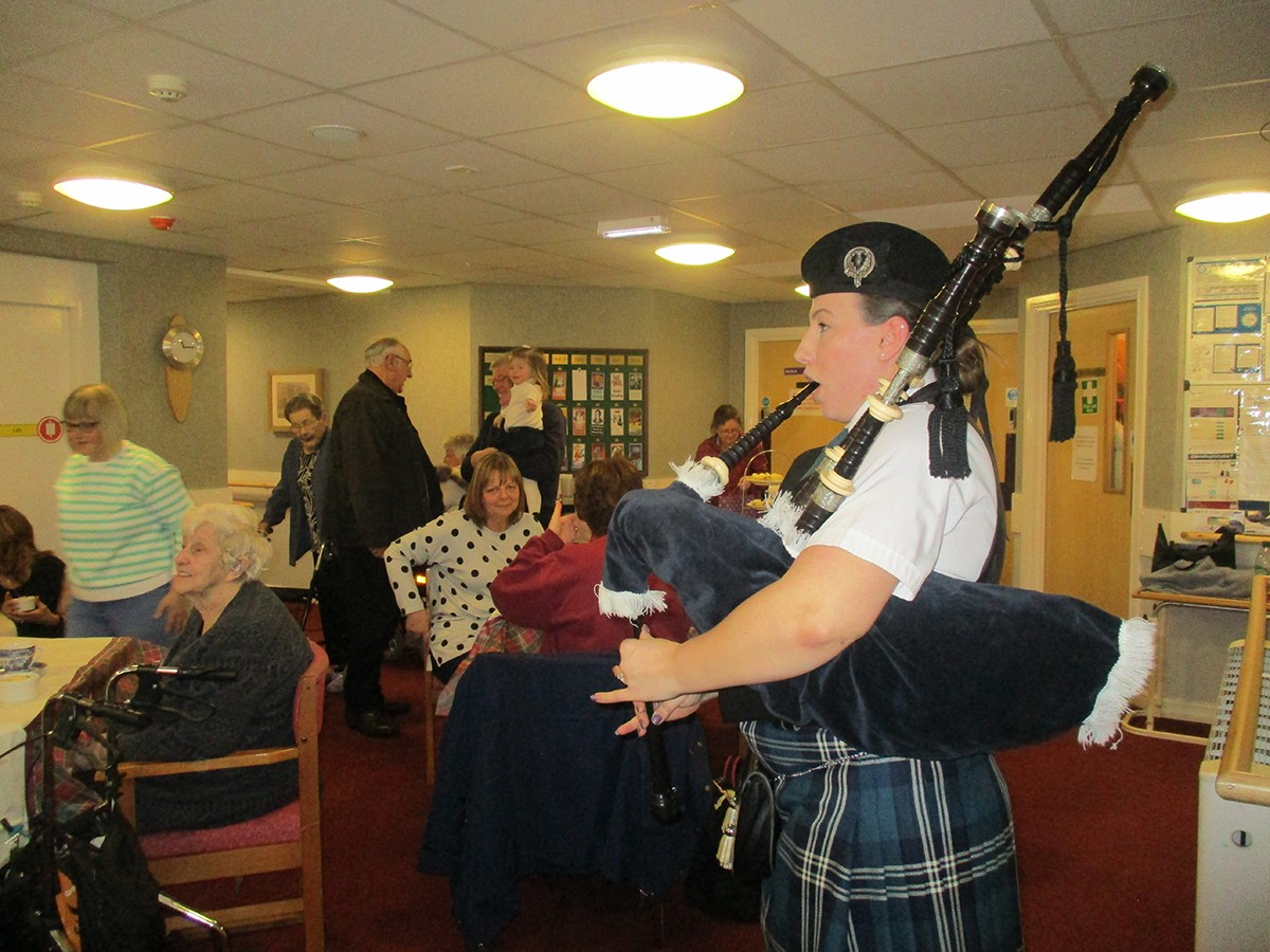 Burns Night Comes to Aycliffe Care Home