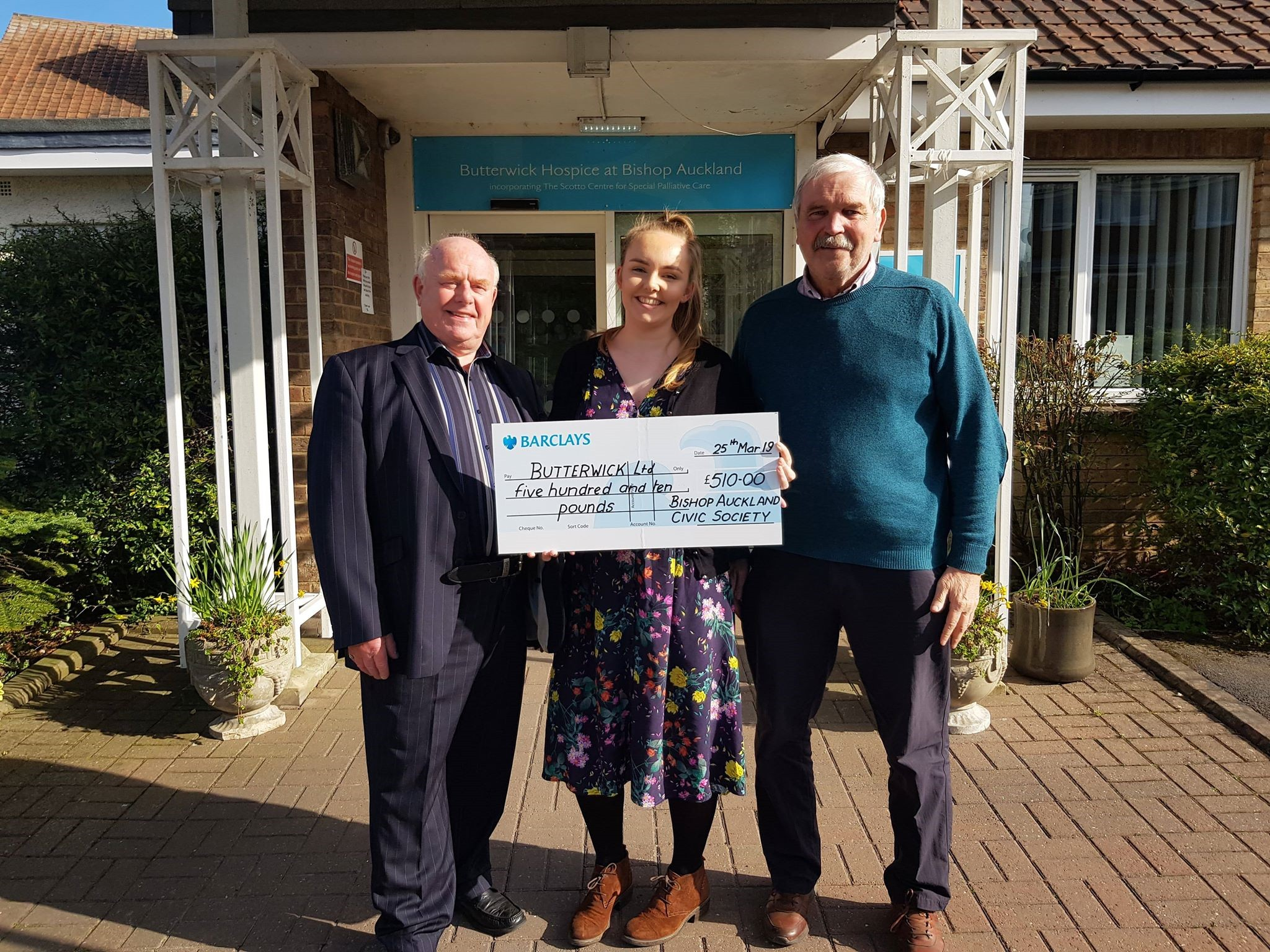 £510 Donation for Butterwick Hospice
