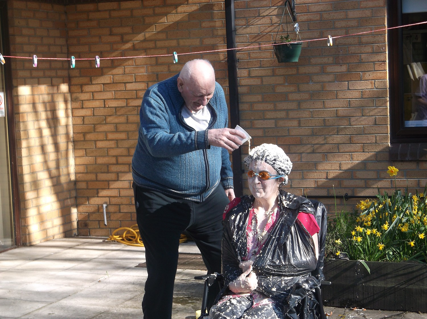 Comic Relief at Aycliffe Care Home