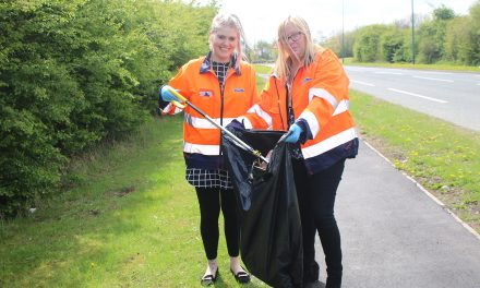 Litter Picking on Business Park