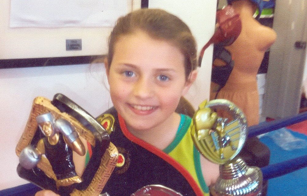 11 year old Daniella in Boxing Finals