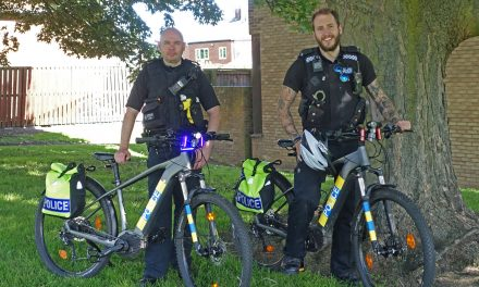 Officers save the life of a vulnerable woman after responding using e-bikes