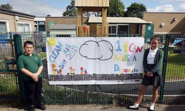 School pupils' artwork urges people to travel cleanly