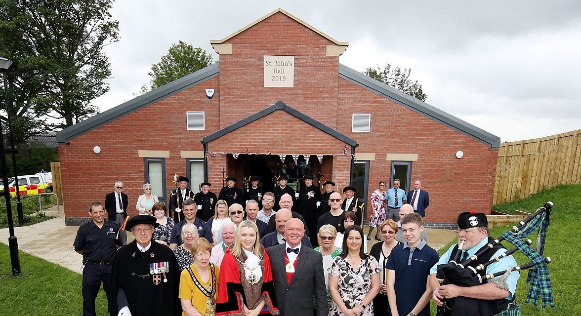 Celebrations as new village hall rises from the ashes