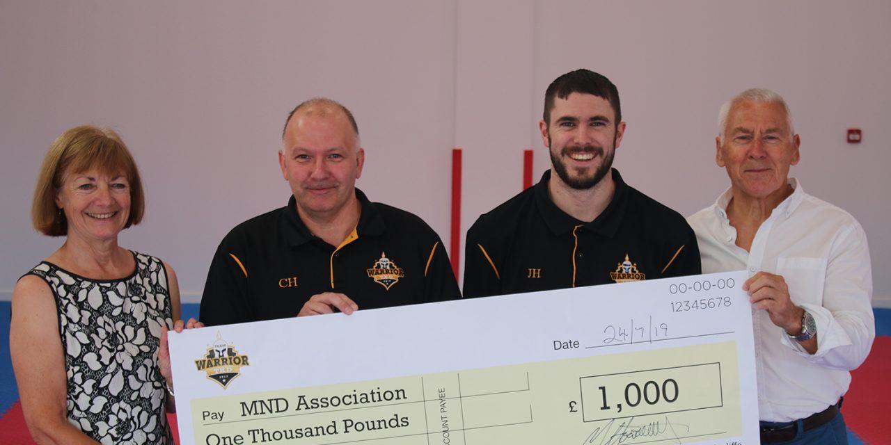 Team Warrior Raise £1000 for MND Association