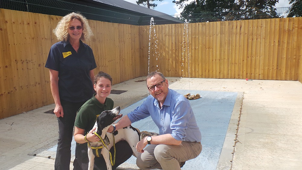 Phil Wilson, MP, vists Dogs Trust