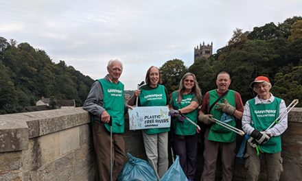 Durham Greenpeace Group Collecting Plastic Pollution