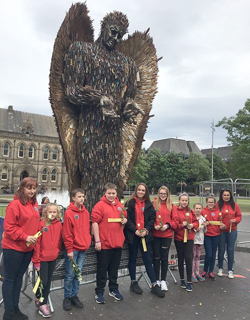 Parish Youth Visit Knife Angel