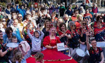 Thousands Enjoy Bishop Celebrating Together