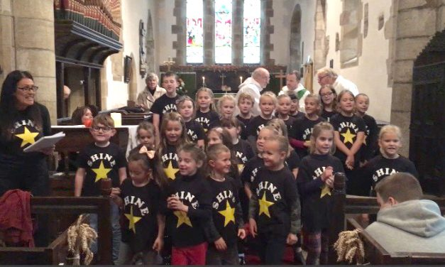 Shine Choir at Harvest Festival